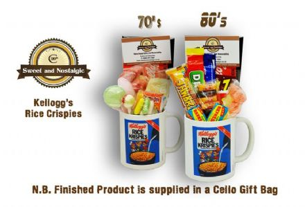 Kellogg's Rice Crispies Mug with/without a selection of 70's or 1980's retro Sweets.